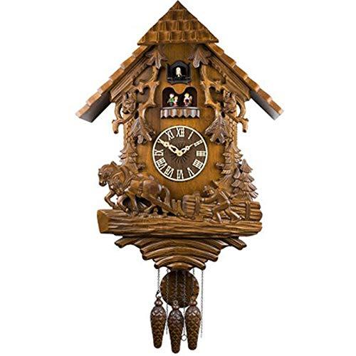 Wgwioo Reloj Selva Negra, con Movimiento De Cuarzo, Timbre De Cuco, Bailarines Giratorios, con Música, para Dormitorio De Oficina De Estudio.