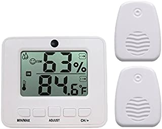 Ambient Weather WS-05-2 Dual Zone Easy-to-Read Wireless Adjustable Thermo-Hygrometer