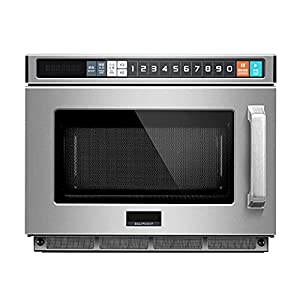 Countertop Commercial Microwave Oven, Touch Screen Control and Bottom Energy Feed, with Smart Sensor Easy Clean Interior…
