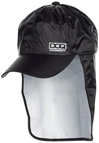 [ドキュメント] 防水 雨除け布付 帽子 アジャスター付 レインキャップ メンズ ブラック F