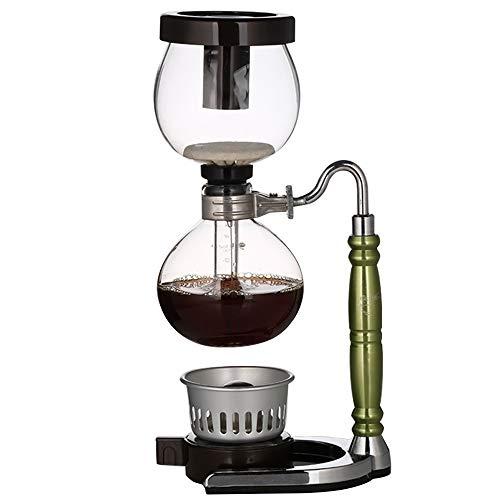 Lpinvin Kaffeesiphon Syphon Pot Kaffeekanne Haushalts Syphon Kaffeemaschine Set Mehrfarben Optional Kaffee Syphon Siphon Filter Kaffeemaschine (Farbe : Grün, Size : 35.2x11cm)