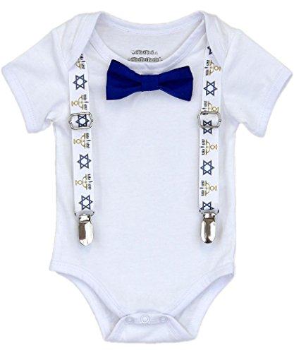 Noah's Boytique Baby Boys Hanukkah Chanukah Outfit 18-24 Months Blue