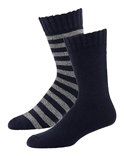 Legale 2 Pair Men's Shoe Size 8-12 Lodge Socks (Rugby Navy)