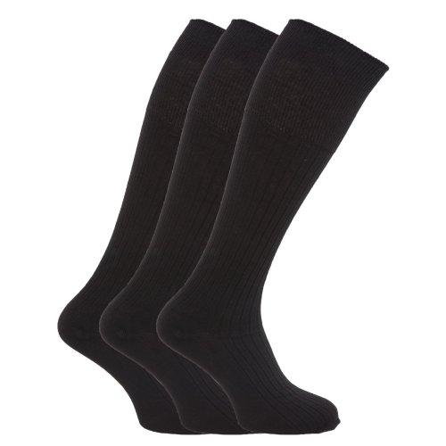 Textiles Universels Chaussettes hautes pour hommes, 100% coton (ensemble de 3 paires) (Homme EUR 39-45) (Couleurs clairesassorties)