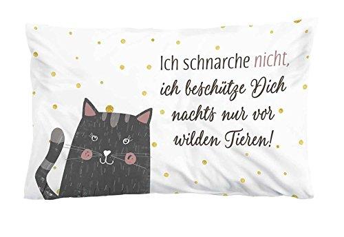 Ich schnarche nicht, ich beschütze Dich nachts nur vor wilden Tieren!: Kissen