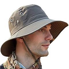 OZ SMART Sun Hats for Men/Women, UPF 50+ UV Protection Waterproof Bucket Hat for Fishing Hiking Garden Safari Boonie Hats (Army Green)