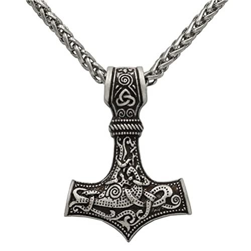 Happyyami 1 Pieza de Estilo Retro Collar de Metal para Hombre con Estilo de Aleación Cuello de Martillo Decoración de Joyería