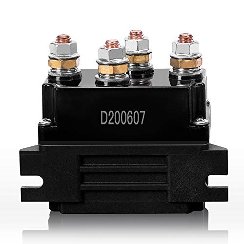 BIGTUR 500A 12V Winch Relay Solenoid Replacement Contactor for 8000-15000lb ATV UTV Truck 4WD 4x4 Winch