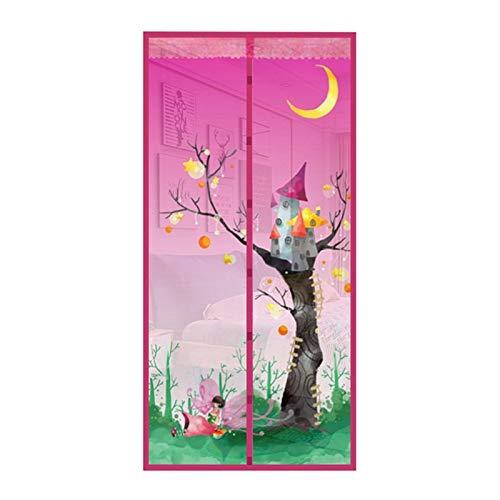 Sommer Haushalt Anti-Moskito-Tür Vorhang Magnetstreifen langlebige Hausvorhang quadratische Blume Fee insektensichere Vorhang Tür Bildschirm A3 B120xH210