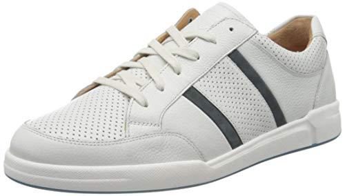 Ganter Herren Hadrian-H Sneaker, Weiß (Weiss/Blue 0232), 42 EU