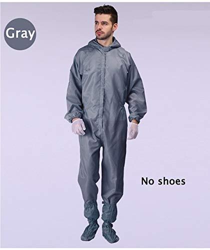 Unisex Hooded Jumpsuit Antistatische staubdichte Arbeitskleidung Schutzkleidung Sicherheitskleidung Staubdicht XXXL