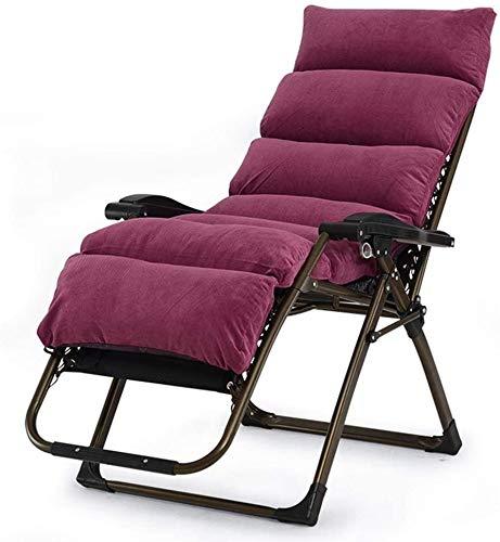 Chair-Camel Tumbona de jardín Tumbonas de jardín Silla Plegable con cojín de algodón Bordado Silla de Playa Plegable, portátil multifunción para Oficina Silla de anciana para Embarazadas