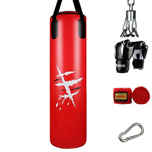 XGL Saco De Boxeo Pesado De Boxeo, Punching Bag con Cadena Guantes para Adultos, Se Puede Usar Al Aire Libre En El Salón De Artes Marciales De Casa (Vacío),120cm
