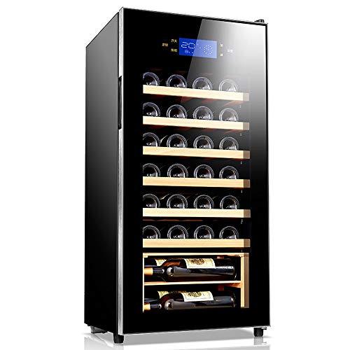 Xiao huang li wijnkoeler wijnkoeler koelkast/constante temperatuur en vochtigheid/massief hout 32 flessen wijnkelder/spanning 220 V Vermogen 70 W/afmetingen 45 x 45 x 96 cm/zwart