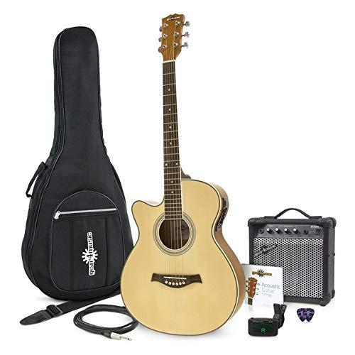 Guitarra Electroacústica Single Cutaway Zurda + Ampli de 15W Gear4music
