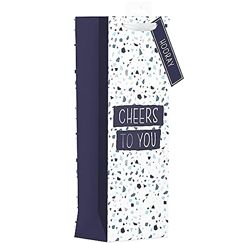 Kraft Terrazzo - Bolsa de regalo para botella con texto en inglés 'It's Your Birthday'