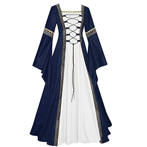 Women's Vintage Celtic Medieval Floor Length Renaissance Gothic Cosplay Dress
