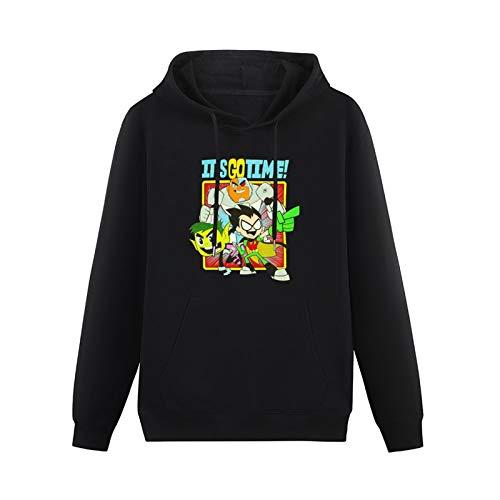 LKC WarmSweatshirts Teen Titans It's Go Time HeavyweightHooded Black 3XL