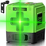 Laser Level, Ginour 100ft Green Cross laser level self leveling Tools Horizontal &Vertical USB Charger, Line Laser for Construction or Picture Hanging- Protective Glasses & Reflector & Magnitic Base