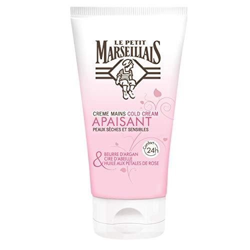 Le Petit Marseillais Crème mains Cold Cream Beurre d'Argan Cire d'Abeille & Huile aux Pétales de Rose 75 ml