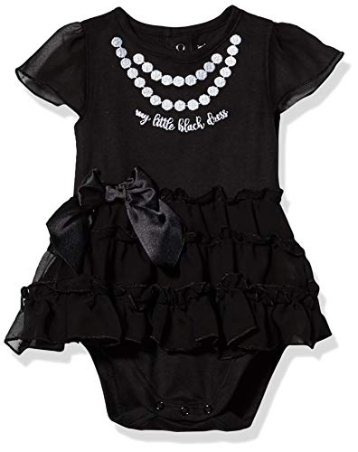 Gerber Baby Girls' Bodysuit with Tutu Skirt, Black Dress, 3-6 Month