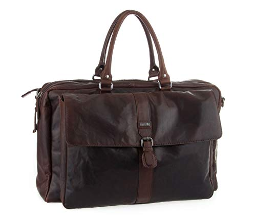 SPIKES & SPARROW Bronco Business Travelbag Dark Brown