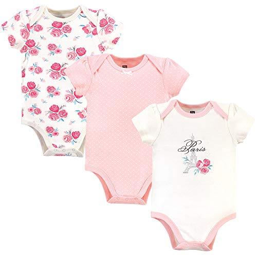 Hudson Baby Unisex Cotton Bodysuits, Paris, 12-18 Months