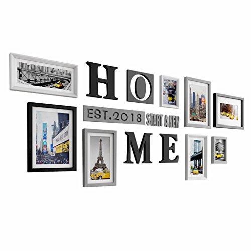 Ensemble de cadres photo multiples, cadre photo, ensemble de cadre mural, grand ensemble de cadre photo cadre, décorations pour la maison et le mur, cadres photo Vintage, Galerie cadre mural ensemble - 8 / Set