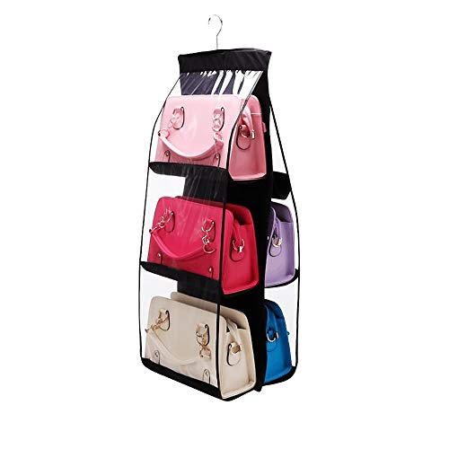 Dreamtop 6 Pockets Handbag Storage Bag Pouches - Clear