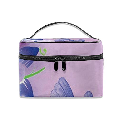 Purple Butterfly Travel Cosmetic Case Organizer Portable Artist Storage Bag with, Built-in Pocket, Multifunction Case Toiletry Bags for Women