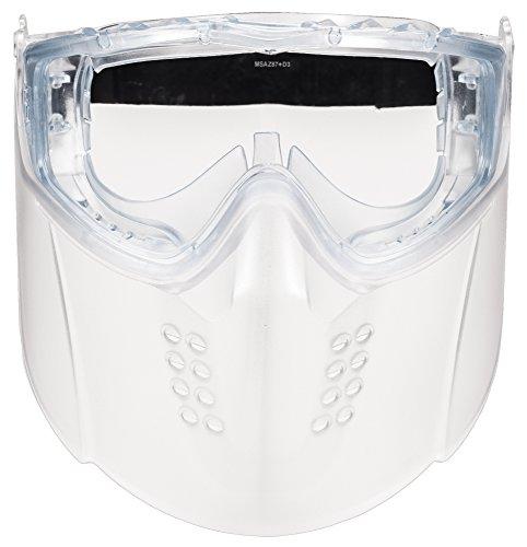 MSA 10150069 Sightgard Vertoggle combinación de gafas de seguridad/escudo facial, lente de policarbonato, lente transparente
