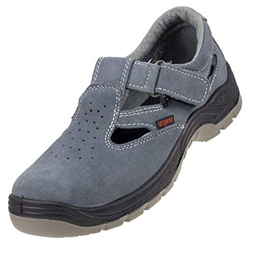 Sandalias de seguridad muy ligeras, color gris, antiestáticas, con puntera de acero 302S1, UK8 - EU42, gris, 140