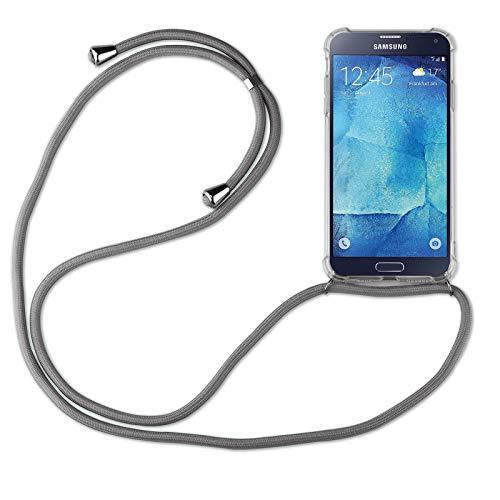 betterfon | Samsung Galaxy S5 Handykette Smartphone Halskette Hülle mit Band - Schnur mit Case zum umhängen Handyhülle mit Kordel zum Umhängen für Samsung Galaxy S5 SM-G900 Grau