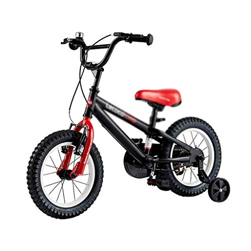 MLH-MLH Children's Bicycle Boy Toy Student Mountain Bike 14 Inch Double Brake Shock Safety Best Gift (Color : Black, Size : 14INCH(56CM78CM34CM)) Folding Bike