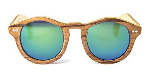 Gafas de madera Forest Bubinga Lente Verde Espejo - FELER