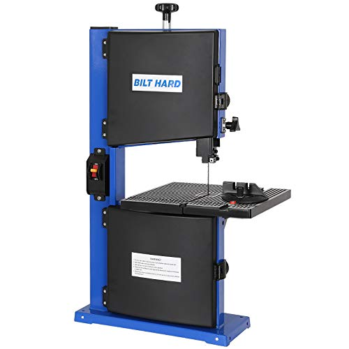 BILT HARD 3-Amp 9-Inch Band Saw, Benchtop Bandsaw for Wood with Blade and Miter Gauge