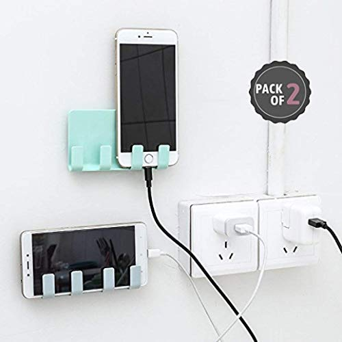 IRONFIX® (Pack of 2) Mobile Holder for Home Wall Charging, Wall Mount Phone Holder, Wall Mobile Charging Holder,Wall Holder for Phone Charging Stand with Holder for Mobile and Tablet