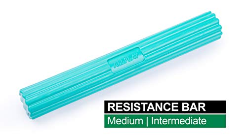 Latex Free Twist Bend Resistance Strengthener Stretch Bar for Tennis Golfer's Elbow Wrist Arm Forearm Tendonitis Stretcher Pain Relief Physical Therapy Treatment Hand Exerciser (Medium Green 15lbs)