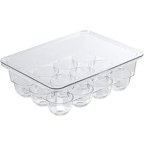 Kühlschrank aus Kunststoff mit Deckel kann überlagert sein, transparentes Lebensmittelaufbewahrungsbox Ei Frische Kasten,White