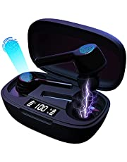 【2021登場 自動ペアリング&LED残量表示】Bluetooth イヤホン 超軽量 完全 ワイヤレスイヤホン 急速充電 ブルートゥースイヤホン ノイズキャンセリング機能 左右分離型 音量調整可能