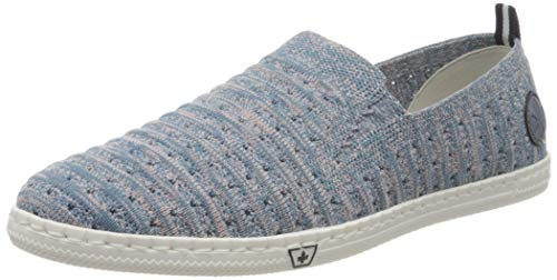 Rieker Damen Frühjahr/Sommer M2785 Sneaker, Blau (Blue-Rose/Jeans 12), 36 EU