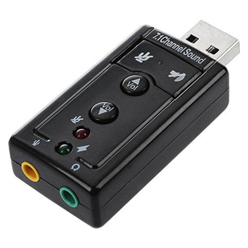 SODIAL(TM) USB Adaptador Audio de Tarjeta de Sonido Externa 7.1 Canal