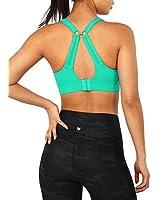 ODODOS Women's Changeable Back Padded Sports Bra with Adjustable Strap Workout Gym Yoga Bra Tops, Aqua Green, Medium