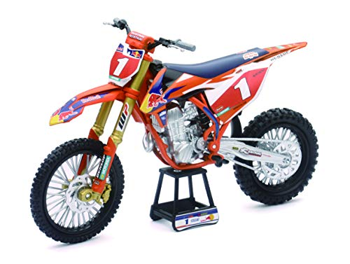 New-Ray 57953 KTM 450 SX-F #1 Ryan Dungey Red Bull Factory Racing Championship Edition 1/10 Diecast Motorcycle Model
