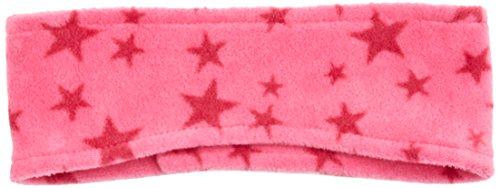 Playshoes Unisex Kinder Fleece-Stirnband Sterne, Pink, One Size