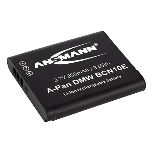 ANSMANN 1400-0052 A-Pan DMW BCN 10E Li-Ion Digicam Akku 3,7V/800mAh für Panasonic Foto Digitalkamera