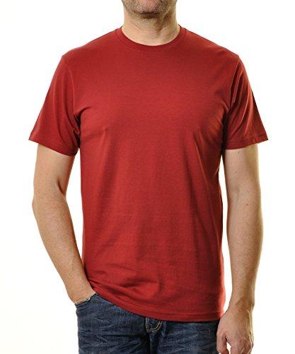 Ragman Herren T-Shirt Rundhals Singlepack  XXL,  Weinrot