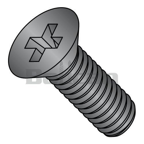 3//8-16 x 2 Coarse Thread Grade 5 Plow Bolt #3 Flat Head Medium Carbon Steel Zinc Plated Pk 100