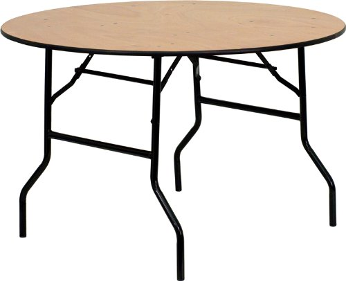 Strictly Tables and Chairs Round Plywood Folding Table - 3ft (92cm)