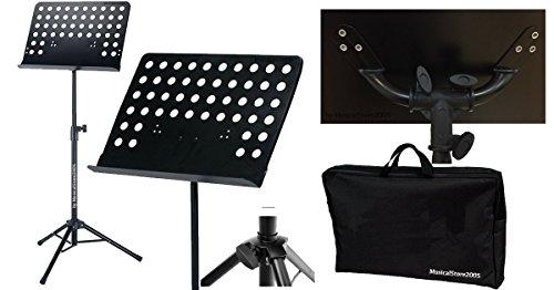 Leggio per spartiti in metallo LG102 / Leggio da orchestra regolabile fino a 142 cm/con borsa